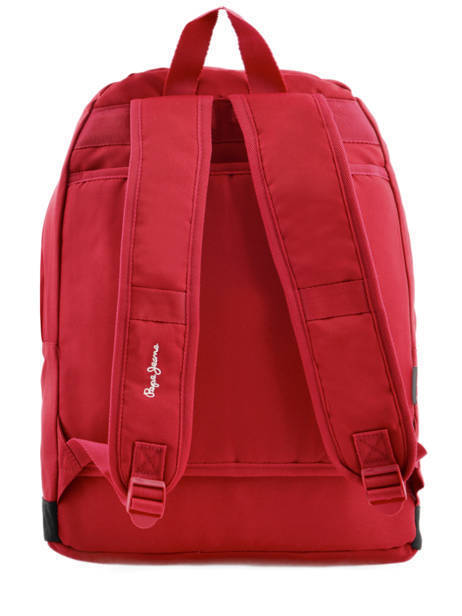 Sac à Dos 1 Compartiment Pepe jeans Rouge jackson 63923 vue secondaire 5