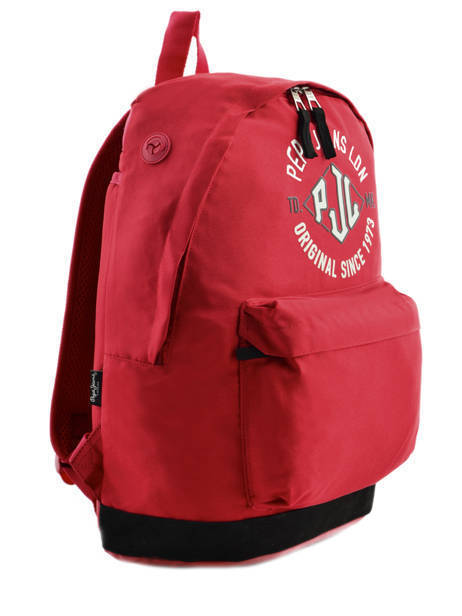 Sac à Dos 1 Compartiment Pepe jeans Rouge jackson 63923 vue secondaire 4