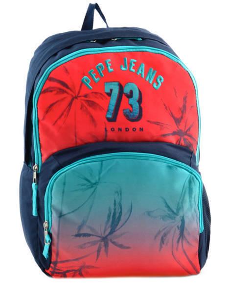 Sac à Dos 2 Compartiments Pepe jeans Multicolore dario 64325