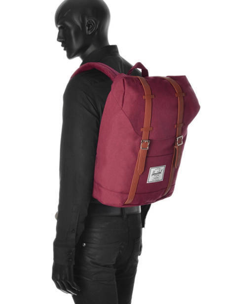 Sac à Dos 1 Compartiment + Pc 15'' Herschel Rouge classics 10066 vue secondaire 3
