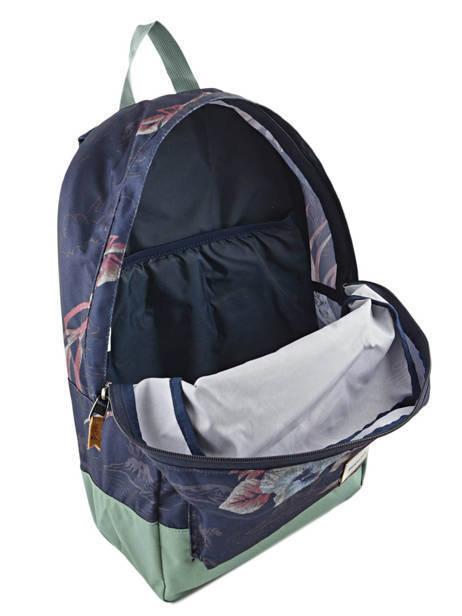 Rugzak 2 Compartimenten + Pc 15'' Quiksilver Blauw back to school YBP03278 ander zicht 6