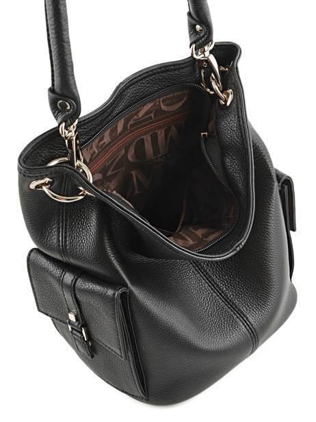 Bucket Bag Vesuvio Leder Mac douglas Zwart vesuvio MEGVES-S ander zicht 6