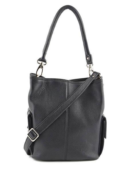 Bucket Bag Vesuvio Leder Mac douglas Zwart vesuvio MEGVES-S ander zicht 5