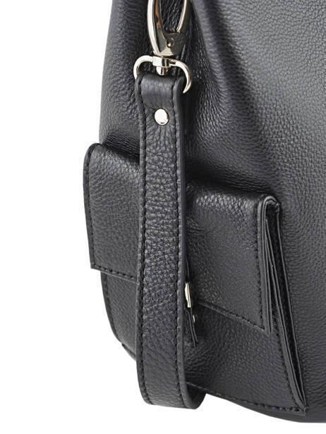 Bucket Bag Vesuvio Leder Mac douglas Zwart vesuvio MEGVES-S ander zicht 2