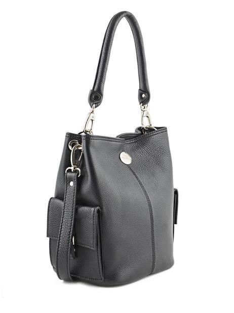 Bucket Bag Vesuvio Leder Mac douglas Zwart vesuvio MEGVES-S ander zicht 4
