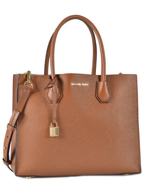 Cabas Mercer Cuir Michael kors Marron mercer F6GM9T3L