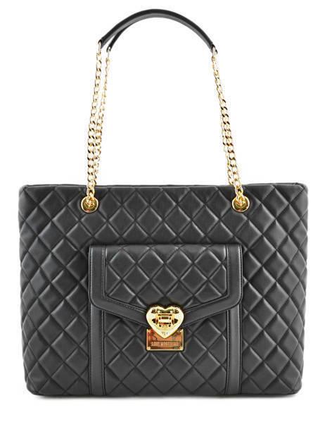 Sac Shopping Heart Quilty Love moschino Noir heart quilty JC4209