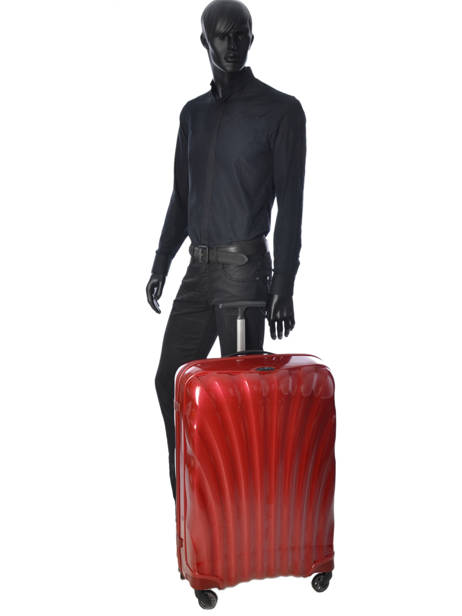 Valise Rigide Cosmolite Samsonite Rouge cosmolite V22304 vue secondaire 3