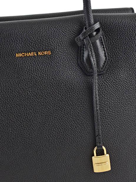 Sac Shopping  Mercer Cuir Michael kors Noir mercer H6GM9S3L vue secondaire 1