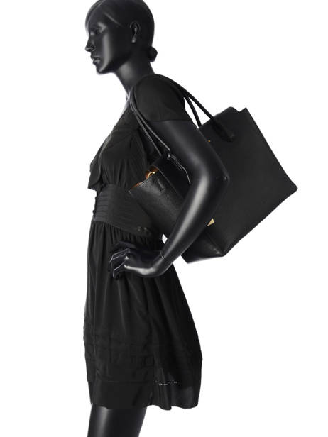 Sac Shopping  Mercer Cuir Michael kors Noir mercer H6GM9S3L vue secondaire 2