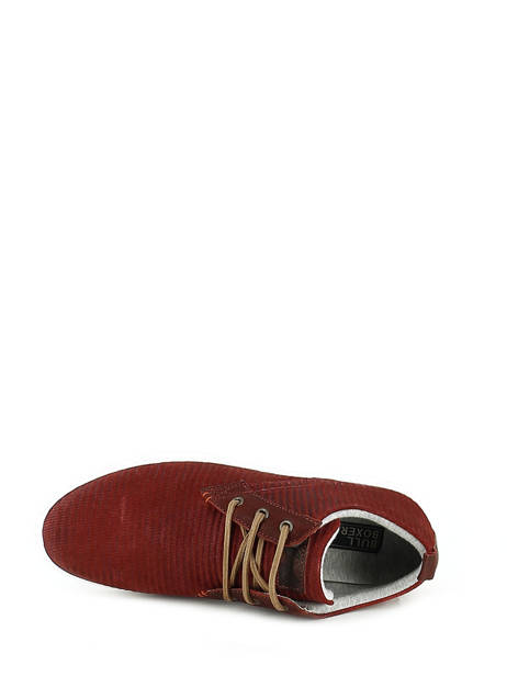 Veterschoenen Bull boxer Rood chaussures a lacets K2-3939I ander zicht 4