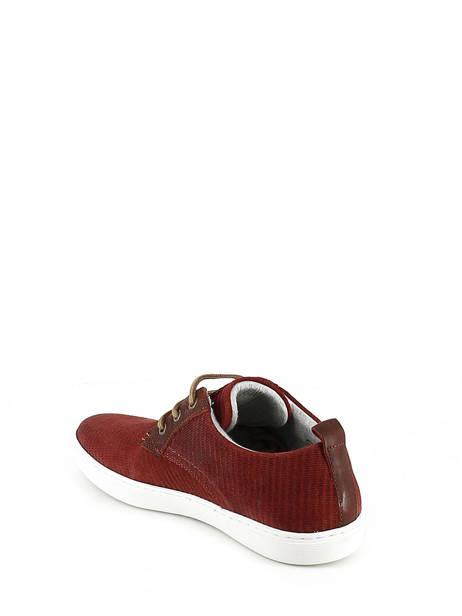 Veterschoenen Bull boxer Rood chaussures a lacets K2-3939I ander zicht 3