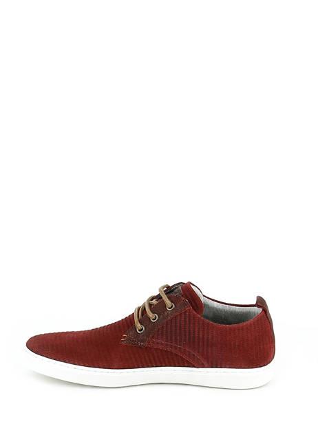 Veterschoenen Bull boxer Rood chaussures a lacets K2-3939I ander zicht 2