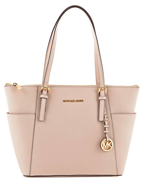 Cabas Jet Set Item Cuir Michael kors Rose jet set item F2GTTT8L
