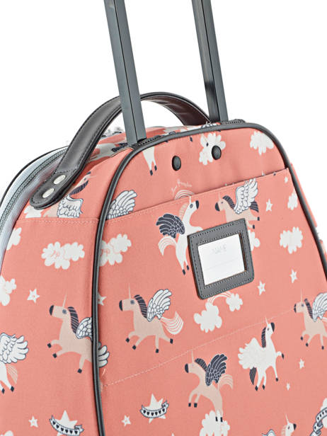 Valise Enfant Bagage Jeune premier Rose bagage T16 vue secondaire 3
