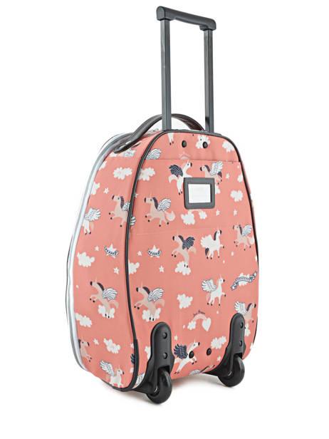 Valise Enfant Bagage Jeune premier Rose bagage T16 vue secondaire 2