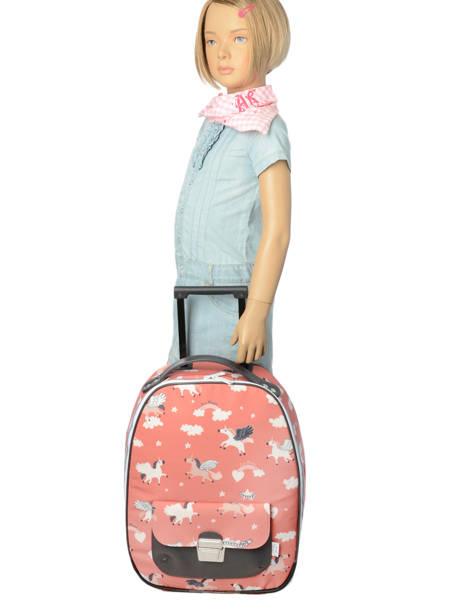 Valise Enfant Bagage Jeune premier Rose bagage T16 vue secondaire 1