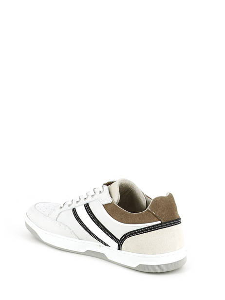 Sneakers Bull boxer Wit baskets mode 4866a ander zicht 3