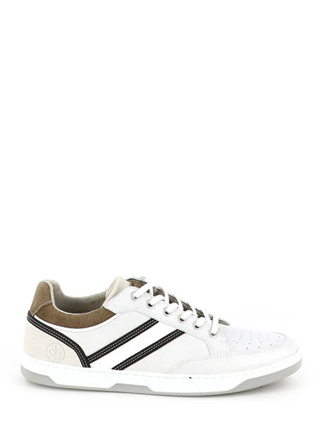 Sneakers Bull boxer Wit baskets mode 4866a ander zicht 1