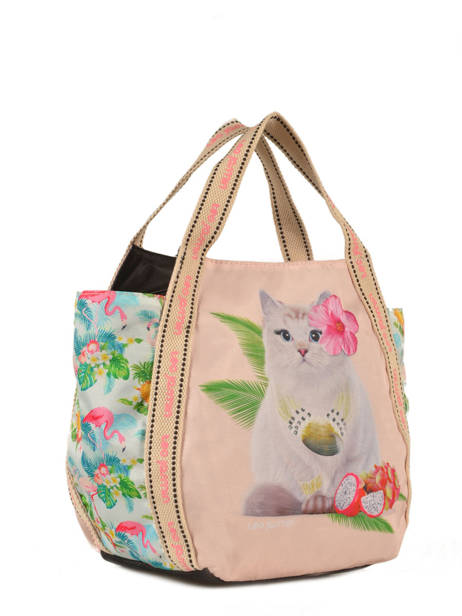 Sac Porte Main Tropical Teo jasmin Rose tropical JAS626TP vue secondaire 2