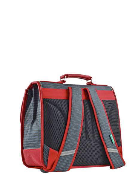 Cartable Enfant 2 Compartiments Cameleon Rouge retro RET-CA35 vue secondaire 4