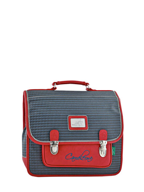 Cartable Enfant 2 Compartiments Cameleon Rouge retro RET-CA35