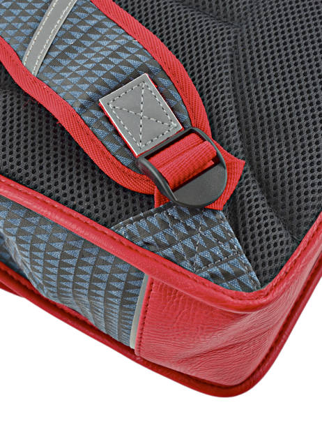 Cartable Enfant 2 Compartiments Cameleon Rouge retro RET-CA35 vue secondaire 1