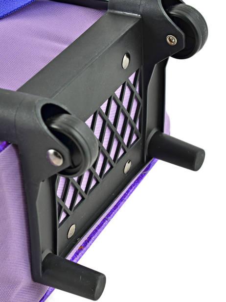 Rugzak Op Wieltjes Soy luna Veelkleurig purple line 4LUNA ander zicht 2