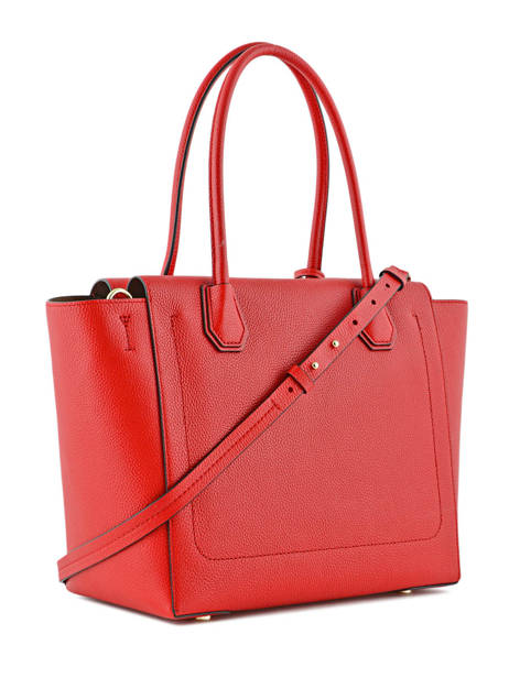 Sac Shopping  Mercer Cuir Michael kors Rouge mercer H6GM9S3L vue secondaire 3