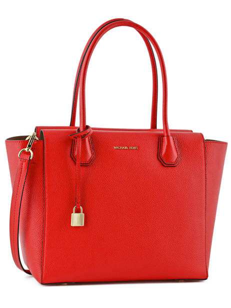 Sac Shopping  Mercer Cuir Michael kors Rouge mercer H6GM9S3L
