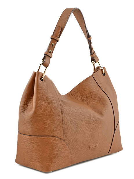 Sac Besace Victoria Cuir Nathan baume Marron victoria N1720502 vue secondaire 4