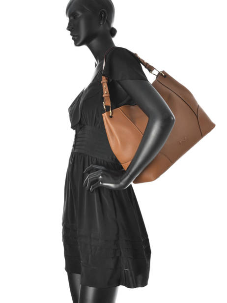 Sac Besace Victoria Cuir Nathan baume Marron victoria N1720502 vue secondaire 3