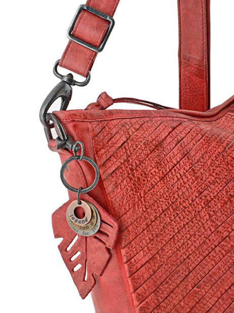 Sac Bandouliere Tresse Cuir Legend Rouge tresse VENEZIA vue secondaire 1