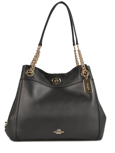 Sac Shopping Edie Cuir Coach Noir edie 36855