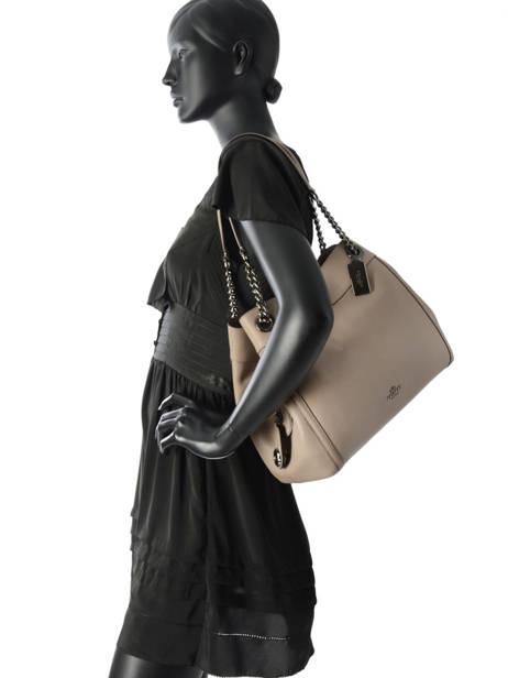 Sac Shopping Edie Cuir Coach Beige edie 36855 vue secondaire 2