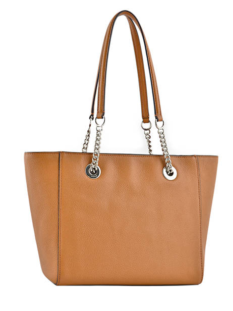 Shoppingtas Turnlock Chain Tote Leder Coach Bruin tote 57107 ander zicht 4