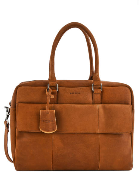 Porte-documents 1 Compartiment + Pc 17'' Burkely Marron on the move 518822