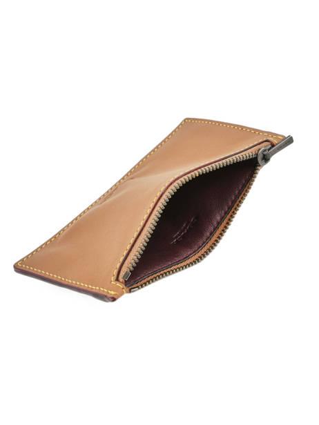Porte-monnaie Cuir Coach Marron wallet 22879 vue secondaire 2