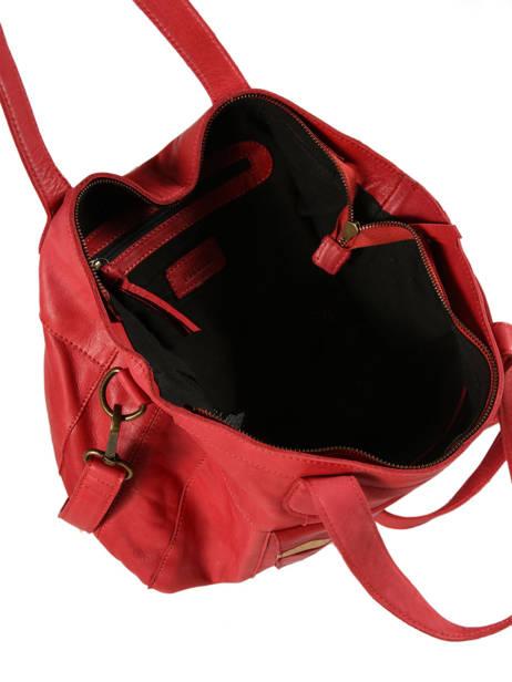 Sac Shopping Imsa Cuir Pieces Rouge imsa 17087078 vue secondaire 4
