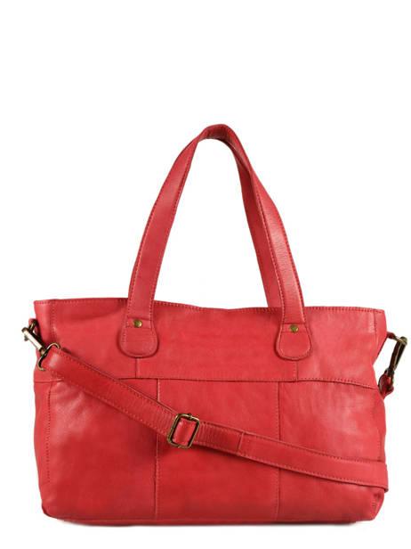 Sac Shopping Imsa Cuir Pieces Rouge imsa 17087078 vue secondaire 3