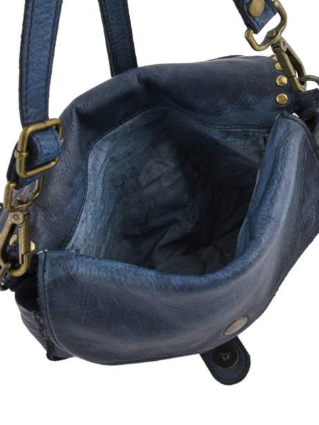 Sac Bandoulière Dewashed Cuir Milano Bleu dewashed DE17111 vue secondaire 4