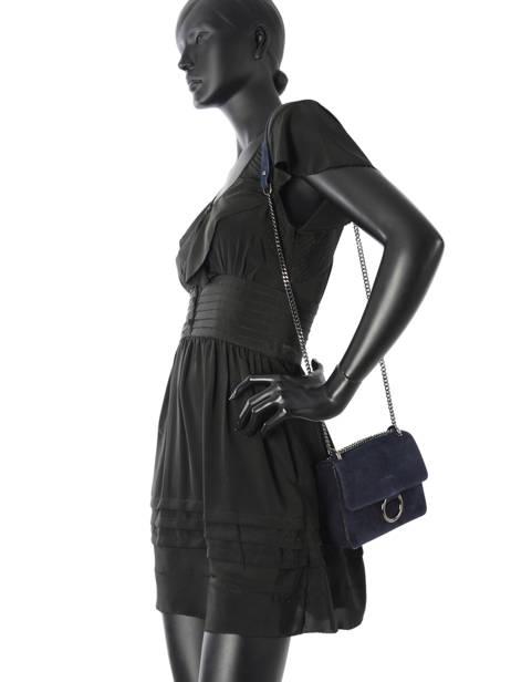 Sac Bandoulière Velvet Milano Bleu velvet VE17111 vue secondaire 1