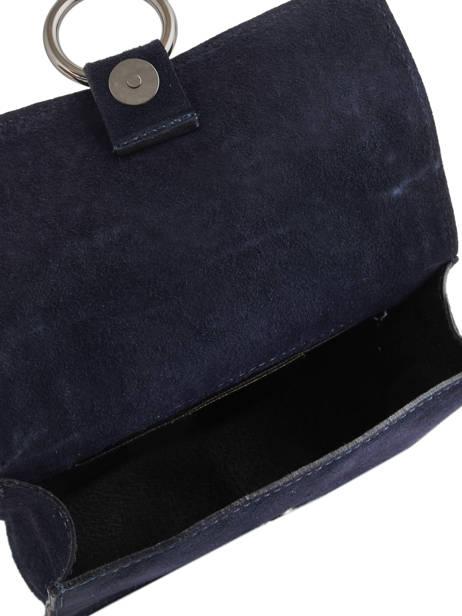 Sac Bandoulière Velvet Milano Bleu velvet VE17111 vue secondaire 3