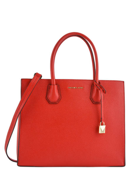 Cabas Mercer Cuir Michael kors Rouge mercer F6GM9T3L