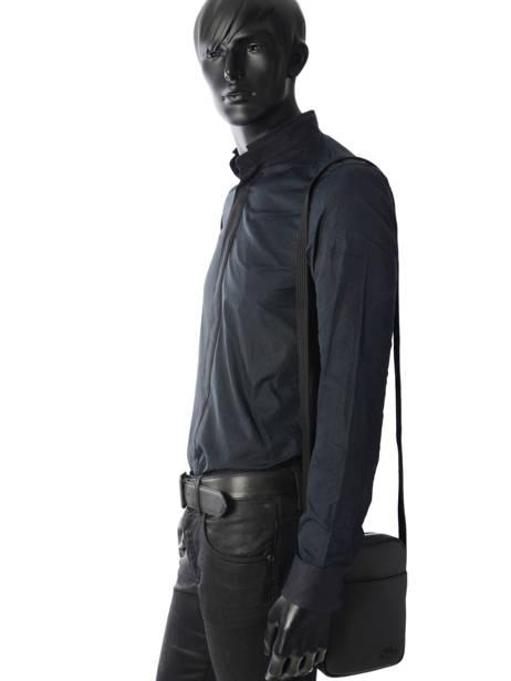 Sac Bandoulière Lacoste Noir men's classic NH2340HC vue secondaire 2