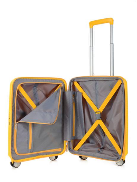 Handbagage American tourister Geel soundbox 32G001 ander zicht 5