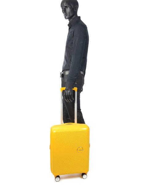 Handbagage American tourister Geel soundbox 32G001 ander zicht 3