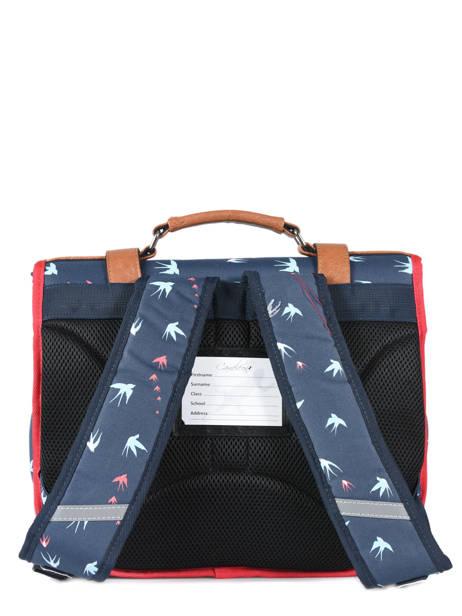 Boekentas 2 Compartimenten Cameleon Blauw vintage VINCA35 ander zicht 4