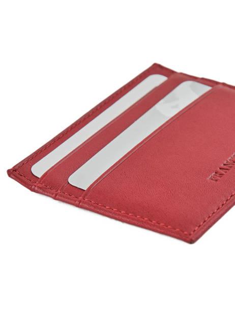 Porte-monnaie Cuir Francinel Rouge venise lisse 37902 vue secondaire 2
