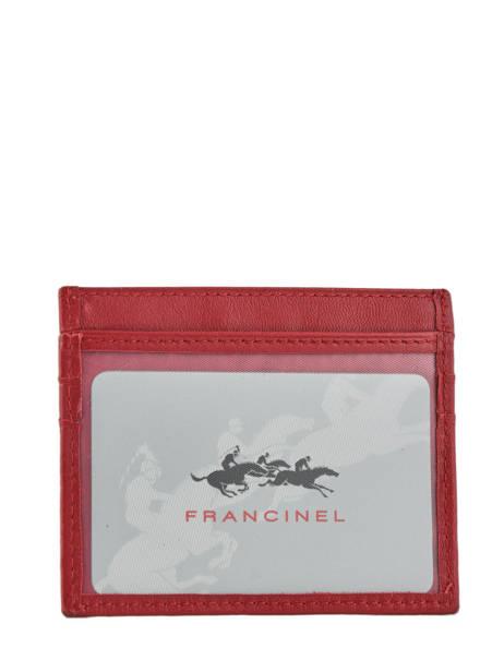 Porte-monnaie Cuir Francinel Rouge venise lisse 37902 vue secondaire 1